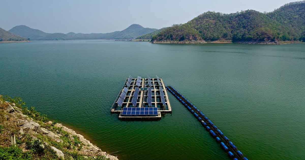 Floating solar panels are a perfect fit for drought-stricken states. Here's why.