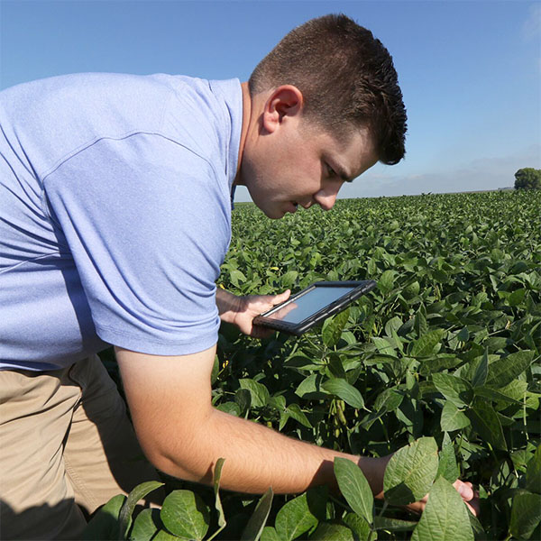 Farmer Scott Henry working with EDF in the field